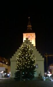 Weihnachten - Christbaum Deggendorfer Stadtplatz