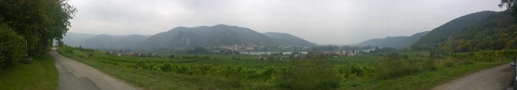 Panorama vom Goldberg ins Wachauer Donautal