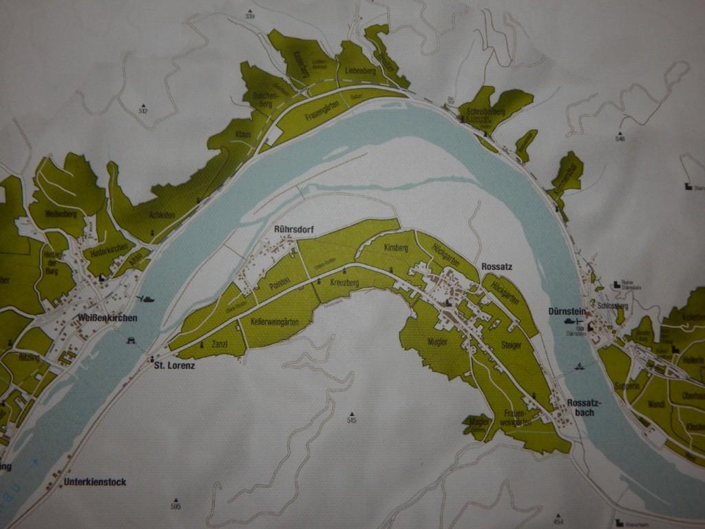 Die Weingärten zwischen Rührsdorf und Rossatzbach, wo die Trauben der Weingärtnerei Frischengruber reifen